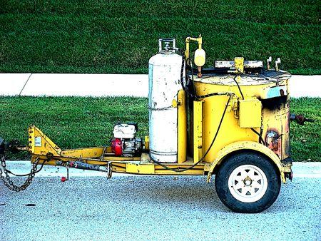 equipment: Asphalt equipment Stock Photo