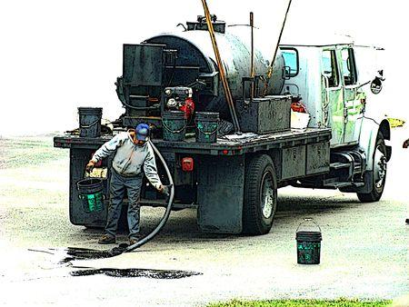 Asphalt truck photo