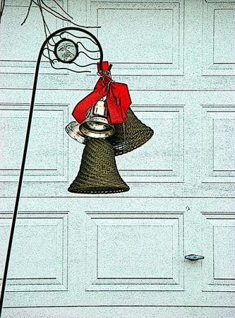 christmas bells: Cartoon illustration Christmas bells Stock Photo