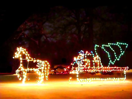 Cartoon illustration of Christmas lights decorations Stock Illustration - 2290688