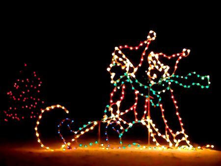 Cartoon illustration of Christmas lights decoration Stock Illustration - 2290681