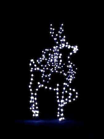 Cartoon illustration of a reindeer done in Christmas lights Stock Illustration - 2290680