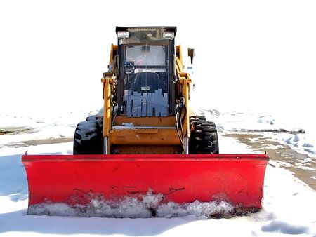 Plowing the snow photo