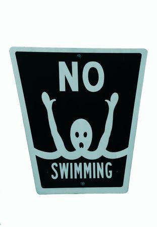 No swimming sign photo