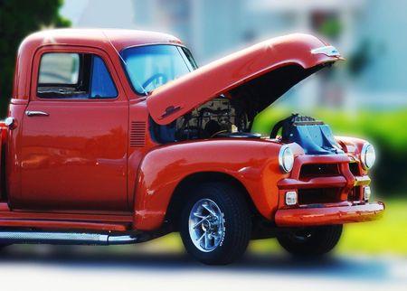 long ago: Vintage truck