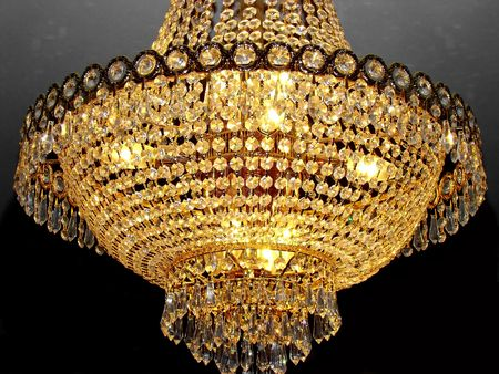 necessity: Crystal chandelier Stock Photo