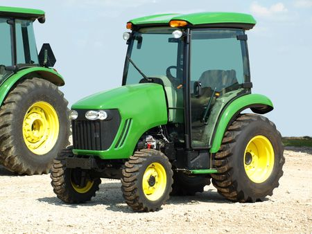 Stock photo print of green agriculture tractors
