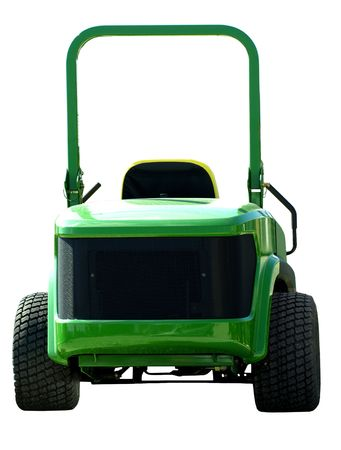 Stock photo print of a green agriculture tractor
