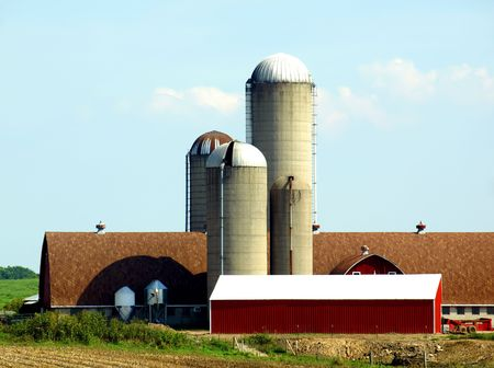 free stock: Free stock image of an American farm landscape in Wisconsin Stock Photo