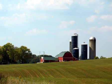 Free stock image of an American farm landscape in Wisconsin Stock Photo - 3676570