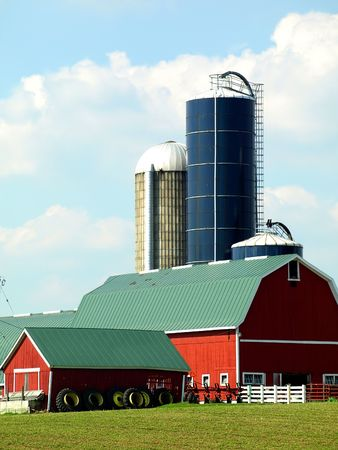 Free stock image of an American farm landscape in Wisconsin Banco de Imagens