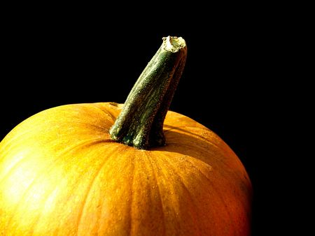 free stock: Free stock image of pumpkin for holiday decoration for harvest day celebration, isolated over black