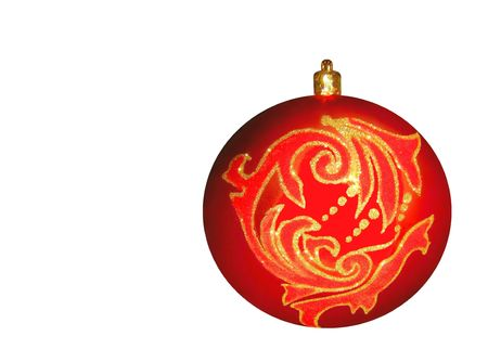 Free stock photo of red christmas ornament, isolated over white Stock Photo