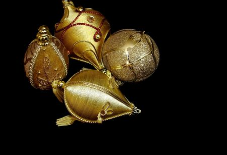 free stock: Free stock photo of golden christmas ornament, isolated over black