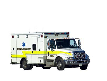 Image of a white ambulance isolated over white Stock Photo - 4894631
