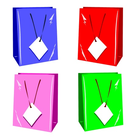 Gift shopping bags with copy space labels