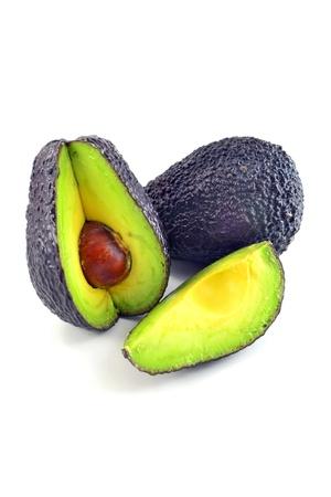 Wybór Haas awokado owoców na białym tle