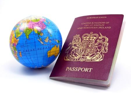 tarjeta visa: Pasaporte con Globo
