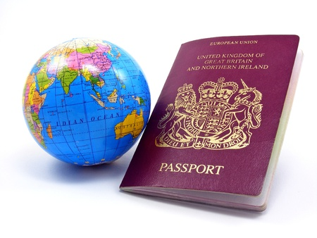 Passport With Globe photo