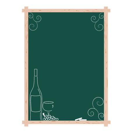 chalkboard menu: A blank wine list menu on a chalkboard with copy space