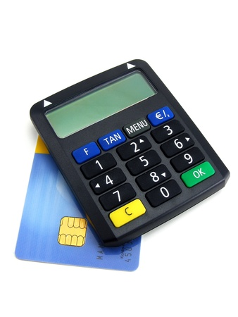 A security pin number calculator for online banking transaction photo