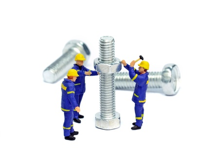 man nuts: Teamwork concept with construction workers on a big job