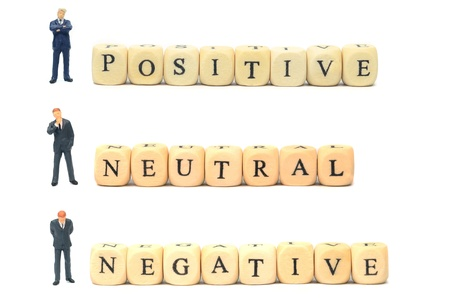 Positive negative and neutral feedback business concept photo
