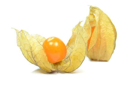 cape gooseberry: Physalis fruit on a white background