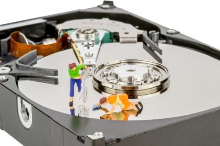anagrafica: Computer del Registro di sistema del disco rigido ripulire e il concetto di manutenzione Archivio Fotografico