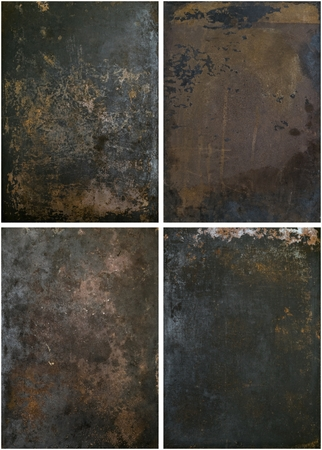 A selection of rusty grunge metal backgrounds with copy space for your text and images