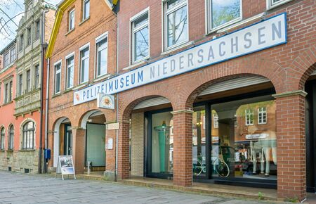 NIENBURG, GERMANY APRIL 10, 2019: An image of the front of the police museum Polizeimuseum Niedersachsen in Nienburg, Germany