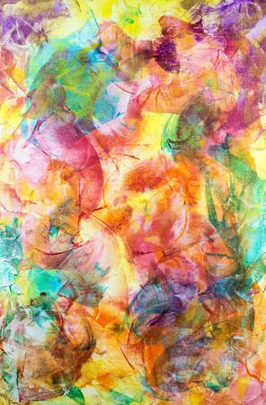 A colourful abstract acrylic painting on a canvas board