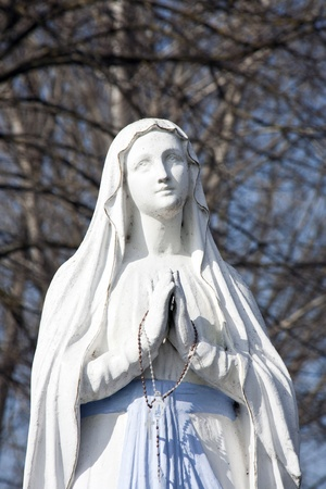 statue of virgin mary photo