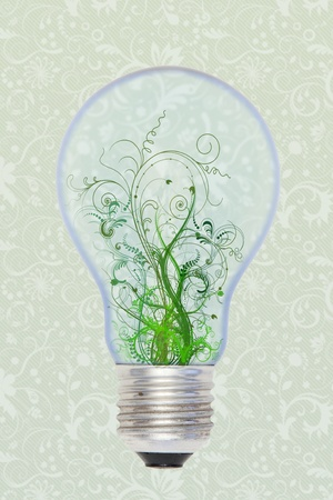 green in the bulb photo