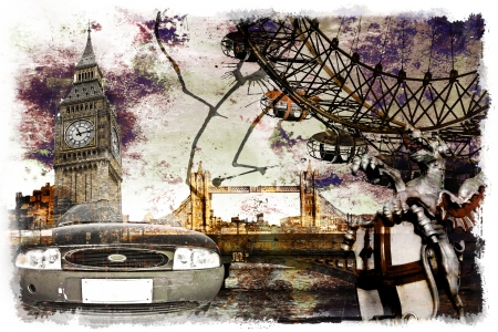 london postcard photo