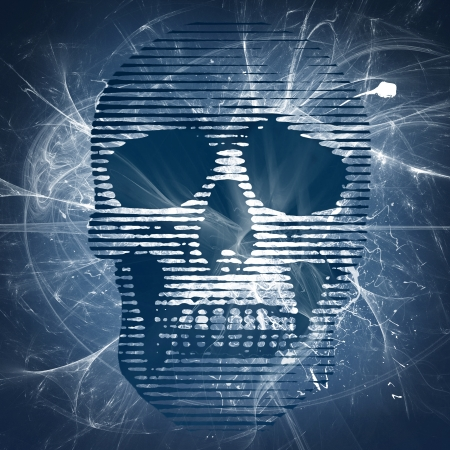 skull illustration on web background illustration