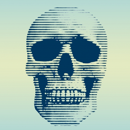 skull screened illustration illustration