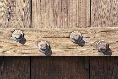 studs: wooden door with studs