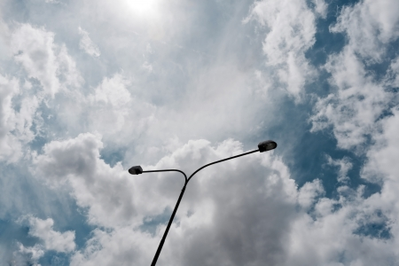 street lamp against cloudy sky Stock Photo - 22851478