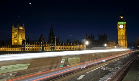 light trails in london photo