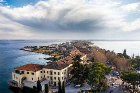 panorama of sirmione photo