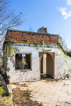 destroyed country house