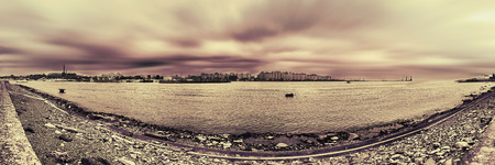 saint petersburg port panorama photo