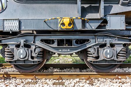 wheels of a train on rails photo