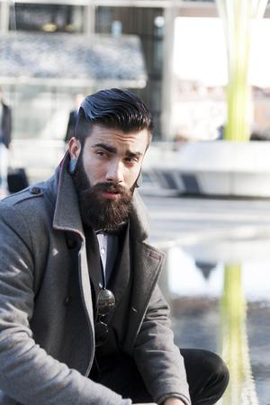 beau jeune homme: jeune hippie affaires Banque d'images