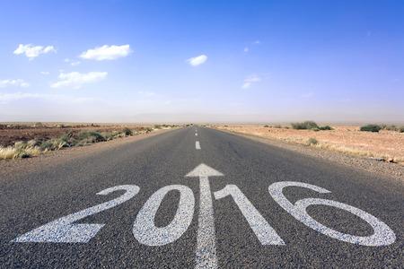 fond de texte: happy new year 2,016 route vers un avenir meilleur