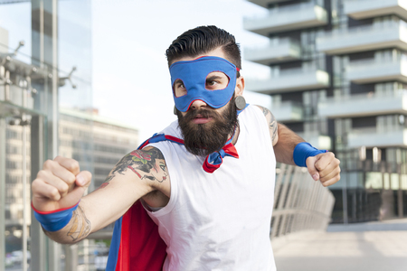 superman: young hipster superhero fights evil