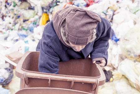 hobo: homeless rummages in the dustbin of landfill