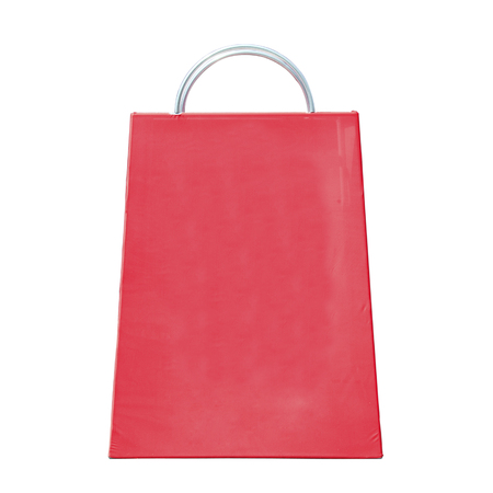 metal structure: red bag made with metal structure