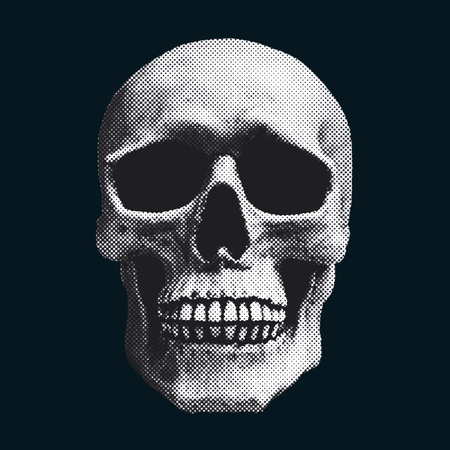 crook: skull screened illustration
